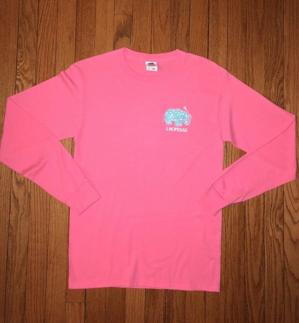 add4eedf2e89 Elephant Lacrosse Long Sleeve Shirt - Girls Gotta Play